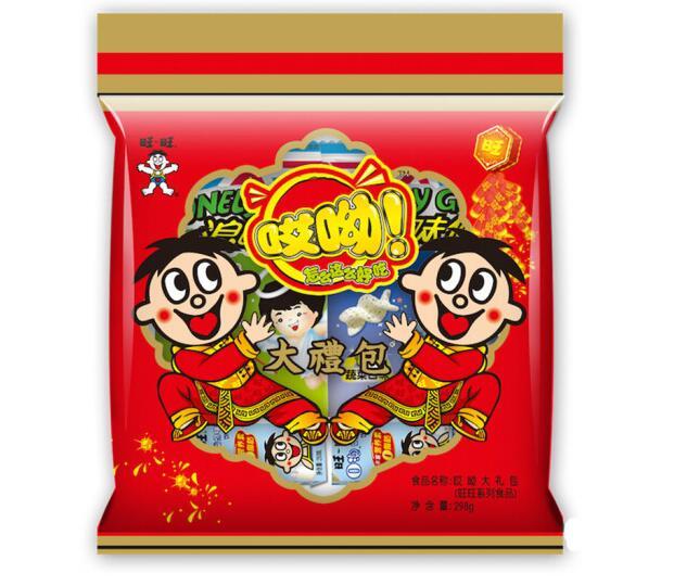 旺旺 哎呦休闲零食大礼包 298g