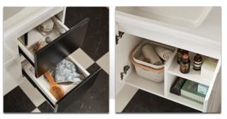 JOMOO 九牧 魔方系列 A2181 黑白橡胶木镜柜浴室柜组合(80厘米)