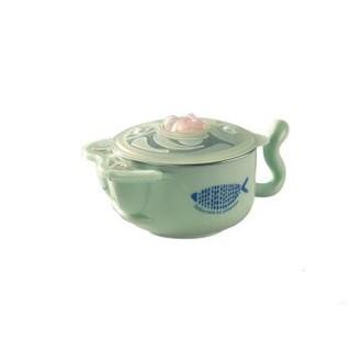 babycare 儿童餐具 宝宝餐具 注水保温碗套装 晨雾绿5件套(316材质)