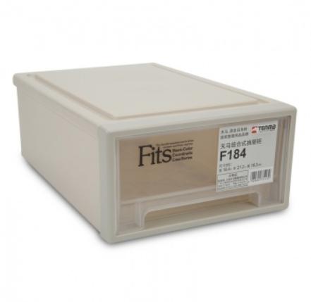 TENMA 天马 Fits系列 F184 组合抽屉式收纳箱 8.4*27.2*10.2cm 卡其色