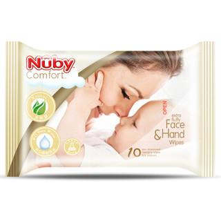 Nuby 努比 宝宝手口绵柔湿巾 10抽