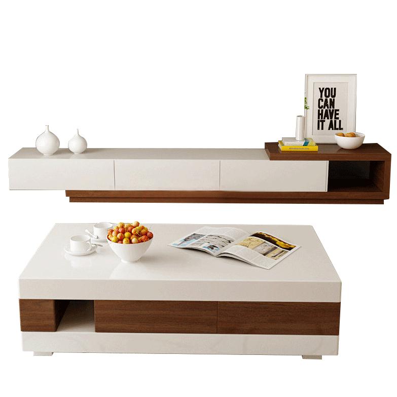 AHOME A家家具 茶几电视柜组合 电视柜DB1406+茶几DB1606 木色