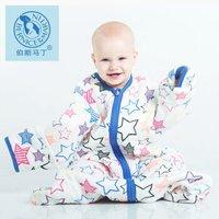伯斯马丁 婴儿睡袋 长袖可拆袖 五彩星星 280g L码 +凑单品