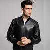 ANDREWMARC 新款真皮皮衣男时尚修身皮夹克外套潮 黑色 M *2件 2062.4元(合1031.2元/件)