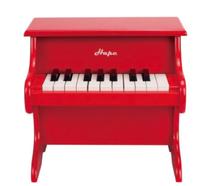 Hape E0318 18键木制电子钢琴 红色迷你款