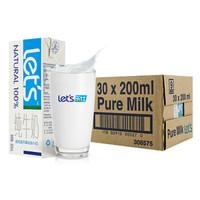 let's 乐仕 超高温灭菌全脂牛奶 200ml*30盒  *2件