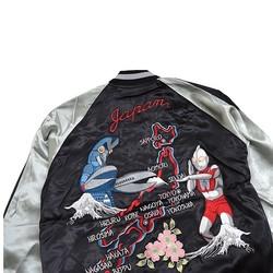 TENSTRIKE 円谷系列 奥特曼VS巴尔坦星人 50周年纪念 男士横须贺夹克