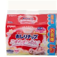 pigeon 贝亲 婴儿湿巾 乳液湿巾纸66片x6包(补充装) *3件