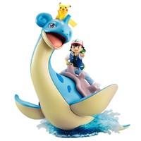 MegaHouse Pokemon 精灵宝可梦 小智&皮卡丘&乘龙 涂装完成版手办
