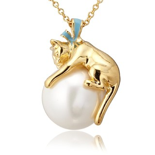 VENDOME BOUTIQUE 女士猫咪珍珠项链