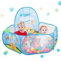 纽奇(Nukied)儿童帐篷宝宝海洋球波波球池帐篷游戏屋小孩户外玩具含投篮游戏池 动物世界 (不含球)