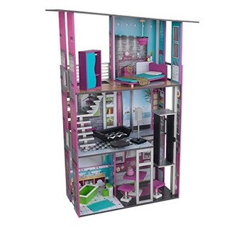 中亚Prime会员 : KidKraft 超级公寓 木制仿真娃娃屋