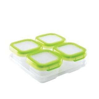 奥秀OXO婴儿辅食盒 宝宝辅食保鲜盒冷冻盒 四格
