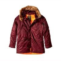 ALPHA INDUSTRIES 阿尔法工业 N-3B Slim-Fit Parka Coat 男士修身大衣