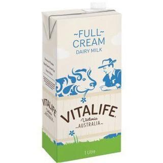 VITALIFE UHT 全脂牛奶 1L*12盒 *2件