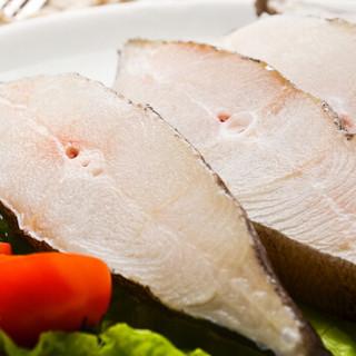 海买 冷冻格陵兰比目鱼切段 500g 5-7块 袋装 火锅食材 海鲜水产 *5件