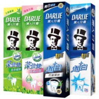 DARLIE 黑人 超白竹炭茶倍健牙膏家庭套装 190g*4支