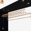 枫尚 晾衣架铝合金升降三杆手摇阳台晾衣杆凉衣架晒架2.4米免费包安装 0324银色 419元