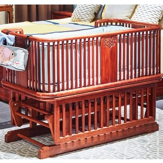 明堂 红木多功能婴儿床