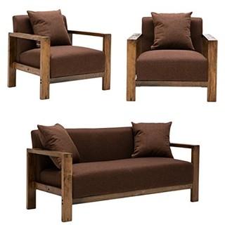 择木宜居 实木组合沙发 (单人位*2+双人位*1)