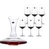 Crystalite Bohemia  波希米亚红酒杯 6只+斜口酒器 1只