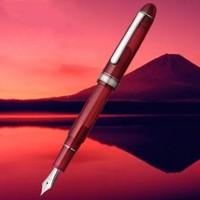 2017黑五:PLATINUM 白金 2017限量版 3776 世纪春晓 PNB-25000SY 透明红杆钢笔 14K金