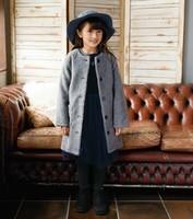 Skipland 斯克莱 羊羔绒童装长夹克 90cm 灰色