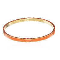 中亚Prime会员:KATE SPADE NEW YORK Enamel Bangle 橘色珐琅手镯