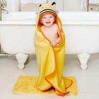 SKIP HOP 宝宝连帽浴巾+沐浴手套
