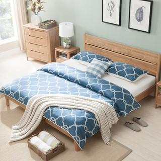 双12预告 : 治木工坊 ZSC-LKB 白橡木床卧室床 1.8米