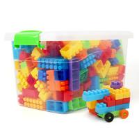 新生彩 儿童颗粒塑料积木 200颗(带收纳盒)