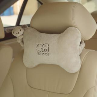 京东PLUS会员 : 爱车屋(ICAROOM)汽车头枕 车用护颈枕头靠枕四季卡通车载枕头骨头枕 T-103D *7件