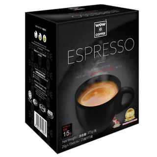 WOW COFFEE 3合1速溶咖啡375g/盒(25g×15条)