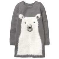 GYMBOREE 金宝贝 Fuzzy Polar Bear Dress 女童针织裙