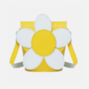 Zatchels 雏菊花朵系列 拼色花朵水桶包 淡黄色