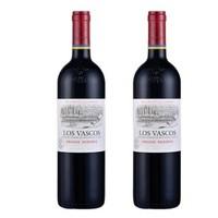LAFITE 拉菲 LOS VASCOS 巴斯克酒庄  珍藏级特酿干红葡萄酒 750ml*2支 *2件