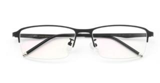 HAN 不锈钢 近视眼镜架HD49321+1.60防蓝光非球面树脂镜片