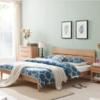 治木工坊 ZSC-LKB 白橡木床卧室床