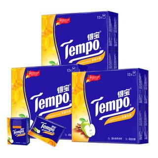 得宝(Tempo) 手帕纸 迷你4层加厚7张*12包*3提 (36包)苹果木味 *6件