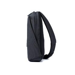 小米胸包男90分斜挎包帆布简约时尚休闲 运动包迷你包深灰色正品