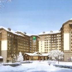 长白山万达宜必思尚品酒店 1晚住宿+双早+滑雪+接送机