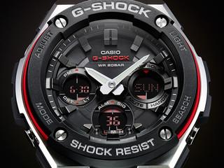 CASIO 卡西欧 G-SHOCK G-Steel GSTS100D-1A4 男士太阳能腕表