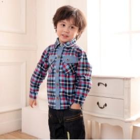 Li World 李沃德 童装花格纹长袖衬衫
