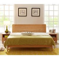 历史新低 : 光明家具 WX3-1513-180 橡木双人床 1.5-1.8m