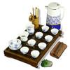 常生源 整套功夫茶具 青花陶瓷  茶缘观音莲套装 79.6元