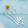 创意不锈钢水果叉甜品小叉子5支装 9.9元(需用券)