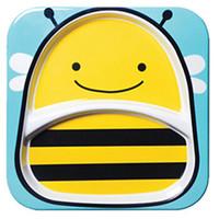 Skip Hop 可爱动物园系列 蜜蜂图案 儿童餐盘 *3件
