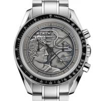 """值友专享:OMEGA 欧米茄 Speedmaster 超霸 """"阿波罗17号"""" 311.30.42.30.99.002 男士机械腕表"""