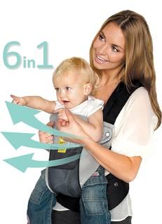 LILLEbaby SIX-Position Airflow 6合1 人工学 透气款 婴儿背带