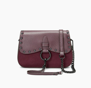 Rebecca Minkoff 瑞贝卡·明可弗 KEITH SMALL SADDLE 女士真皮斜挎包